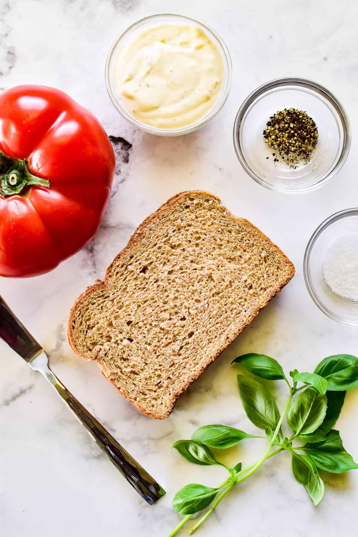 Tomato Sandwich ingredients