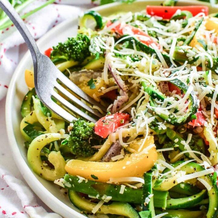 Zucchini Noodle Pasta Primavera