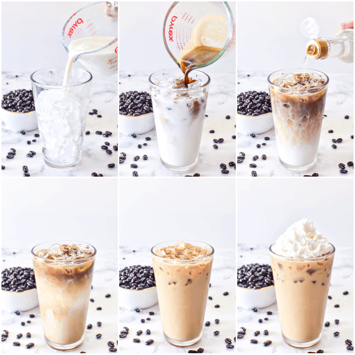 Step by step how to make an Iced Latte