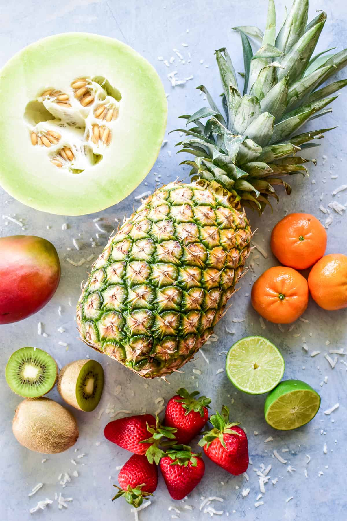 Tropical Fruit Salad ingredients