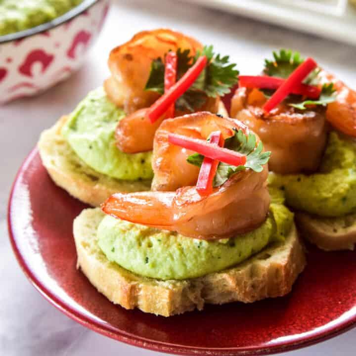 Teriyaki Shrimp Crostini