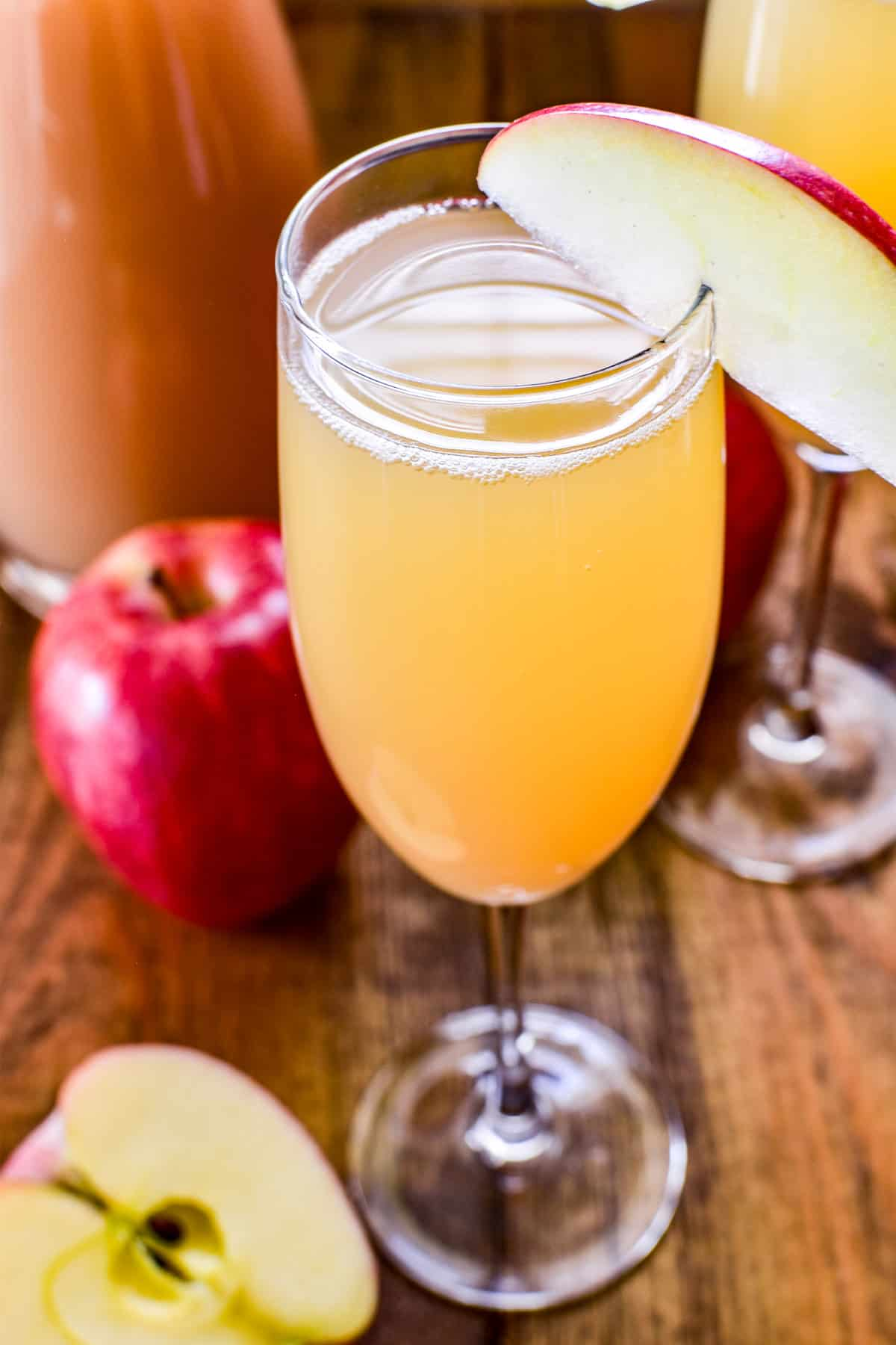 Top down image of Apple Cider Mimosa