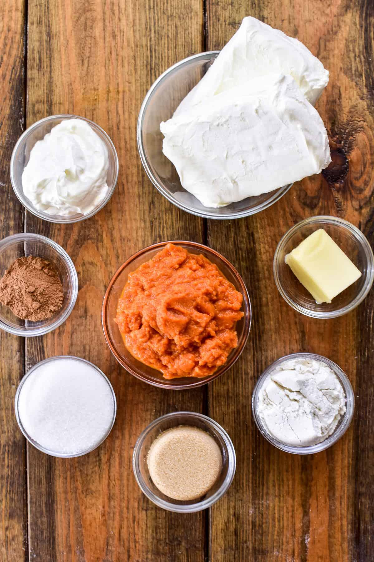 Pumpkin Cheesecake Dip ingredients
